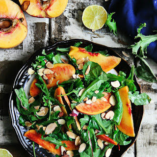 Mixed Greens with Peaches — Salad.