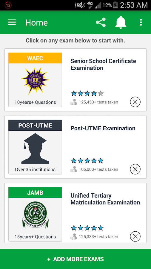 JAMB CBT, N-POWER (PASS.NG)- screenshot
