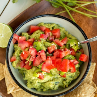 Guacamole with Roasted Jalapenos and Tomato Recipe