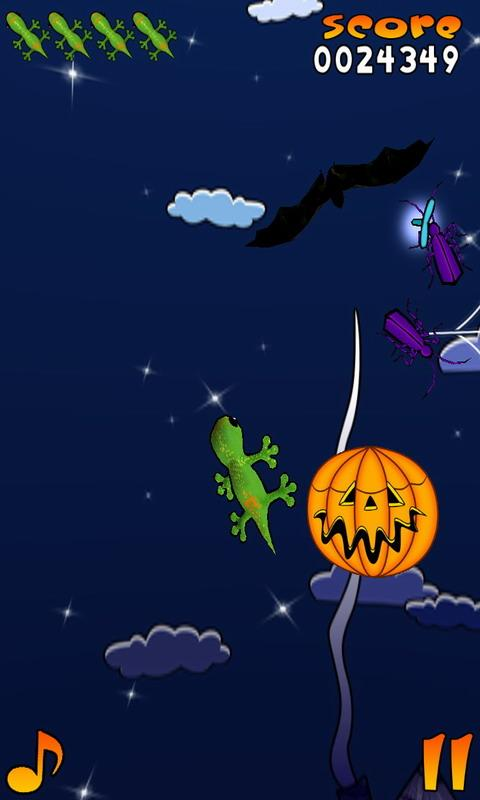 Acrobat Gecko Halloween Free- screenshot