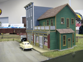 Photo: A pair of structures by Bar Mills Models on the Muskoka module.