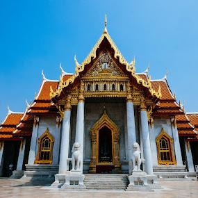 by Victor Roman - Buildings & Architecture Public & Historical ( temple, bangkok, thailand, travel, fuji xt1 )