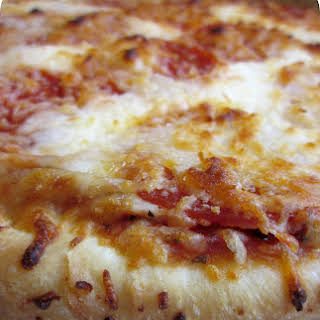Homemade Pizza Hut Original Pan Deep Dish Pizza.
