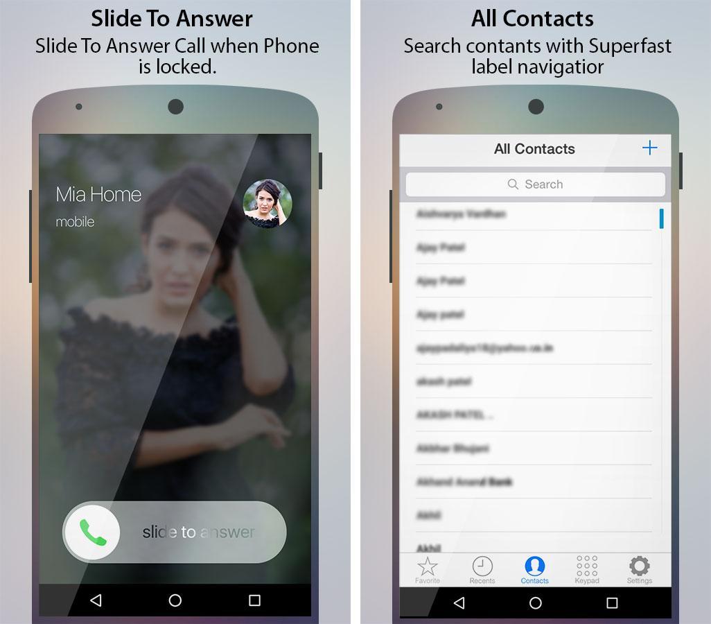 Caller Screen Dialer Pro- screenshot