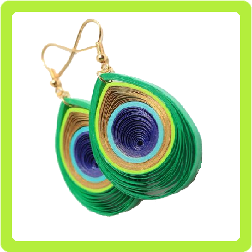 Quilling Paper Earring