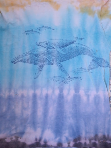 Photo: At Berkeley I had a friend I remember only as Peter Tie-Dye. I loved his work, so i had him work on some shirts I already owned; here, a whale shirt I picked up in Mendocino.
