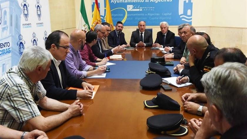 Reunión de la Junta Local de Seguridad de Algeciras. (Foto: Ayuntamiento de Algeciras)