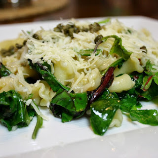 Pasta With Garlicky Greens And Capers