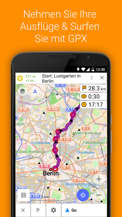 OsmAnd+ Karten & Navigation – Screenshot
