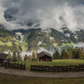 Hiking in Ahrntal by Eva Lechner - Landscapes Mountains & Hills ( clouds, south tyrol, bird view, morning light, ahrntal, hiking, alps,  )