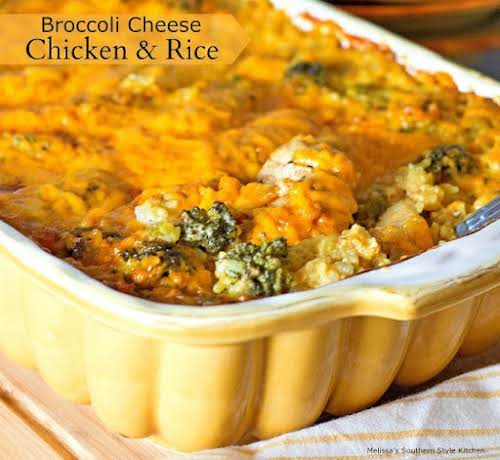 "Broccoli Cheese Chicken And Rice ""This Broccoli Cheese Chicken And Rice casserole..."