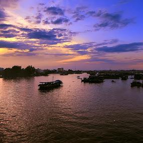 Tj.Balai by Dian Manik - Landscapes Travel ( sunset, indonesia, harbour, fisherman )