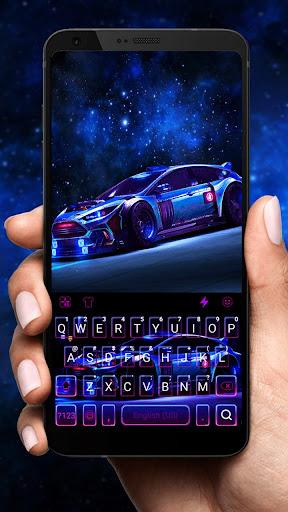 Racing Sports Car Keyboard Theme screenshots 1