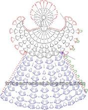 Photo: Anjo em crochet-gráfico