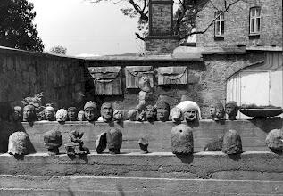 Photo: koniec lat 70-tych fragment otoczenia szkoły, tzw. lapidarium,