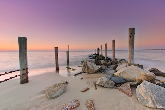 Photo: Just a quick dip - Virginia  Couldn't figure out why my last few photos were coming out a little weird when I posted them- silly Auto Enhance was automatically set!  #sunsetphotography  #beach  #longexposure