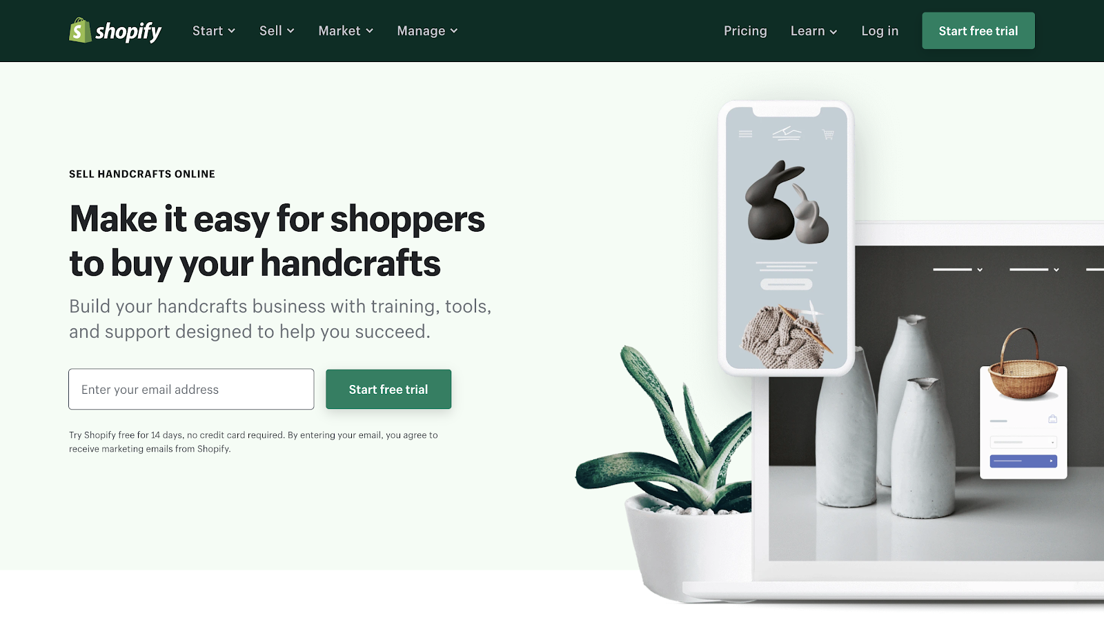 Sell Handcrafted Products with Shopify