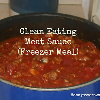 Clean Eating Meat Sauce (Freezer Meal).