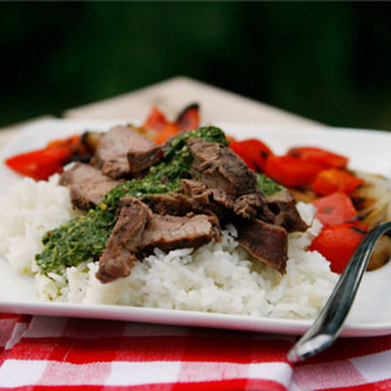 Red Wine Marinated Flank Steak  next a Side of Food Safety
