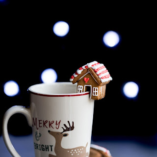 Mini Gingerbread House Mug Cookie - gluten free