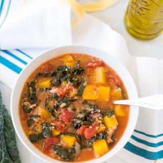 Slow Cooker Butternut Squash, Kale & Quinoa Stew