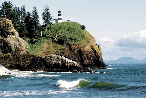 Disappointment-Lighthouse.jpg - See the historic lighthouse on Cape Disappointment near the mouth of the Columbia River on an American Cruise Lines voyage to the Pacific Northwest. Built in 1856, it's the oldest operating lighthouse in the West.