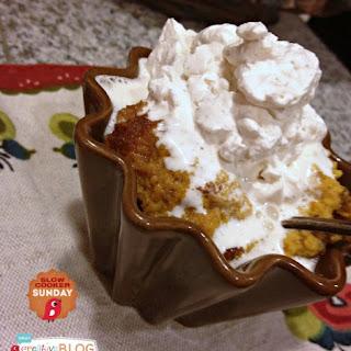 CrockPot Crustless Pumpkin Pie {Slow Cooker Sunday}
