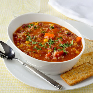Dirty Rice and Beans Soup.