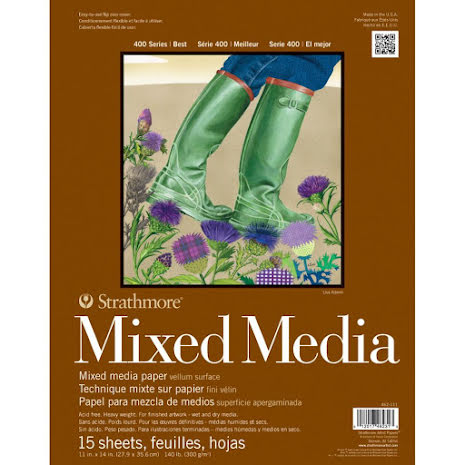 Strathmore Mixed Media Vellum Surface Paper Pad 11X14 - 15 Sheets