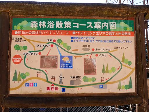 森林浴散策コース案内図