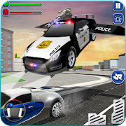 Flying Car Chase Driving Simulator : Cop Car Games