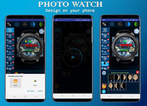 Screenshot for Photo Watch Gear - Many free watch faces in United States Play Store