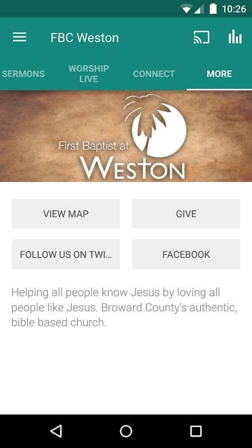 First Baptist at Weston- screenshot