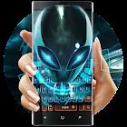 外星人蓝色霓虹未來空間UFO鍵盤,炫酷科幻外星球太空來客,穿梭於平行宇宙空間 icon
