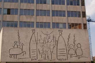 Photo: Building art, Placa del Rei, Barcelona