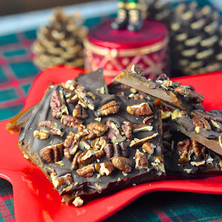 Chocolate Toffee Pecan Brittle.