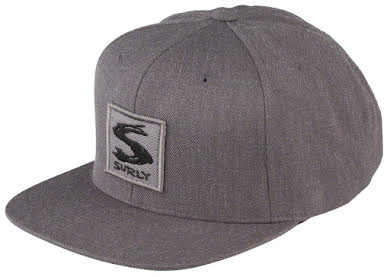 Surly Gray Area Snap Back Hat - Dark Heather Gray, One Size alternate image 4