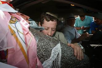 """Photo: ספר התורה מובא לרפאל עבו לקראת הנסיעה לקבר רשב""""י במירון"""