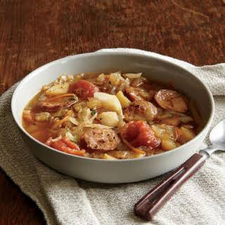 Cabbage Soup with Andouille Sausage.
