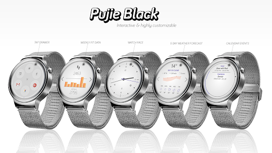 Pujie Black Watch Face Screenshot 24