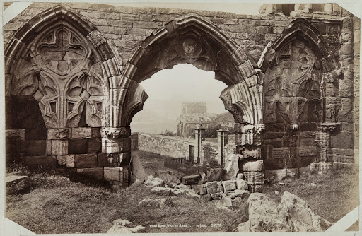 West doorway, Whitby Abbey, Whitby, North Yorkshire