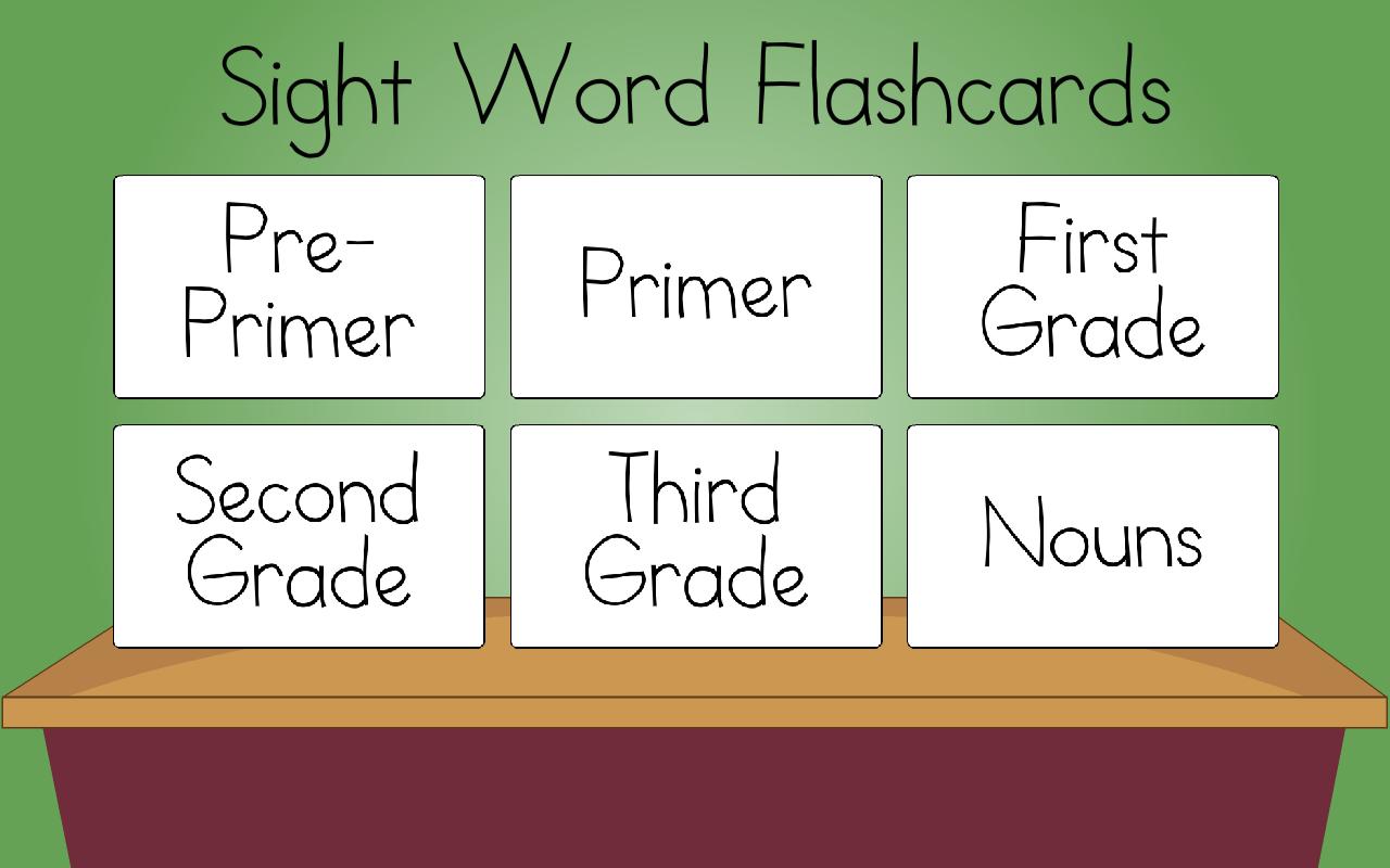 primer sight words flash cards