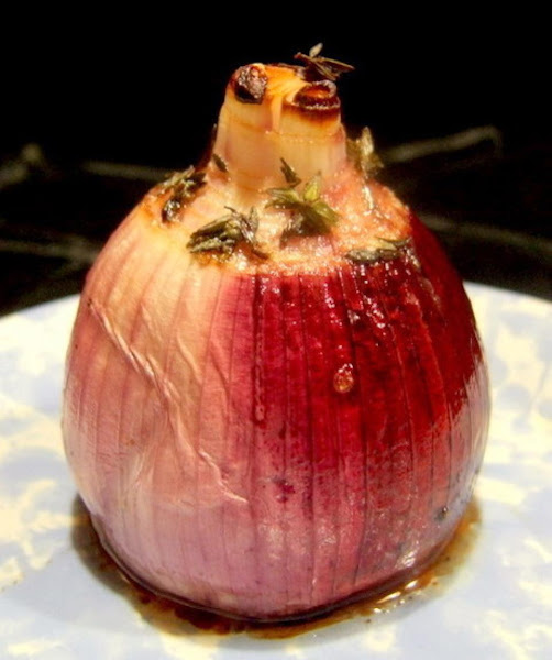 Roasted Onions With Balsamic Vinegar And Thyme Recipe