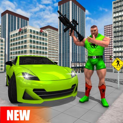 Spider Rope Hero Man: Miami Vise Town Adventure