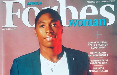 Caster Semenya is owning this magazine cover.