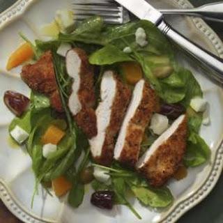 Warm Arugula Salad with Chicken & Chèvre