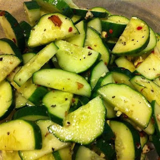 Sweet 'n Spicy Cucumber Salad