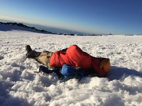 Photo: Matt Taking a Summit Nap