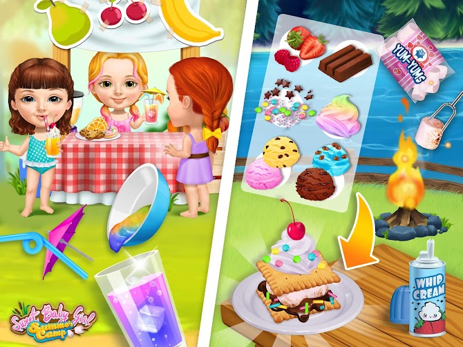 Sweet Baby Girl Summer Camp - Kids Camping Club Android 13