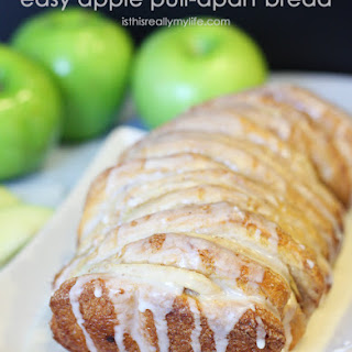 Easy Apple Pull-Apart Bread with Vanilla Glaze